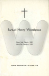 WOODHOUSE - Samuel funeral notice
