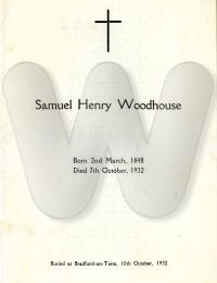 WOODHOUSE - Samuel funeral notice